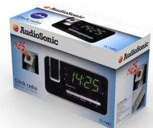 Radio despertador Audiosonic CL-1492 caja