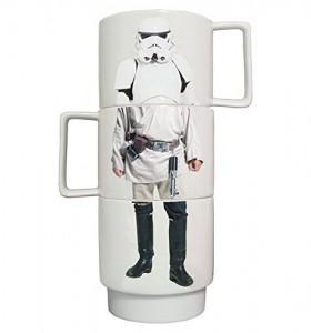 Set de 3 tazas apilables diseño Star Wars un trozo de cada personaje