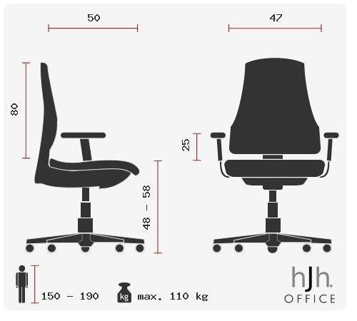 Silla de escritorio OFFICE RACER PRO II medidas
