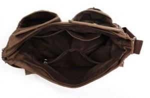 Bolso bandolera para hombre Eshow-BFK010411 por dentro