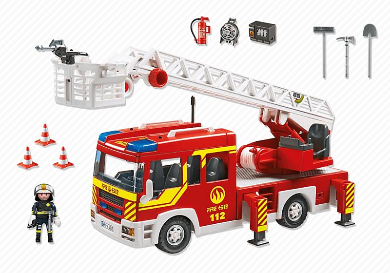 Contenido caja camión de bomberos Playmobil (5362)