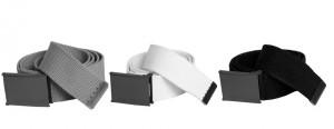 Cinturón Urban Classics gris, blanco y negro