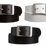 Cinturónes de piel para mujer Esprit marrón, blanco y negro