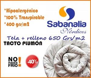 Edredón fibra de 400g Sabanalia