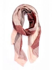 Foulard diseño diseño bandas tricolor en tonos rosas