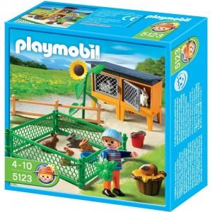 Granja conejos con corral Playmobil 5123