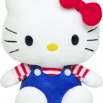 Hello Kitty con pantalones azules