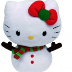 Hello Kitty muñeco de nieve