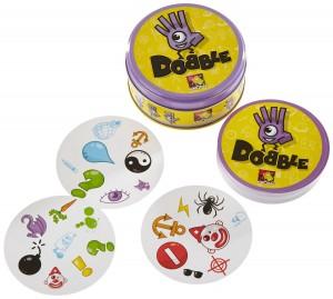Juego Dobble Asmodee cartas y caja