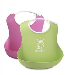 Pack de 2 baberos BabyBjörn rosa y verde