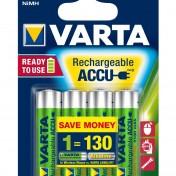 Pack de 4 pilas recargables NiMH AA 2100 mAh Varta Power Accu