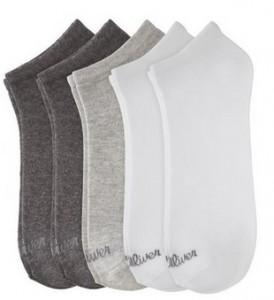 Pack de 5 pares de calcetines s.Oliver gris y blanco