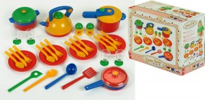 Set de utensilios de cocina de juguete Klein 9194 Emma's Kitchen caja
