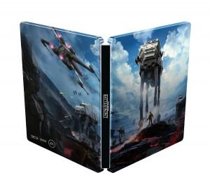 Star Wars Battlefront caja metálica por fuera