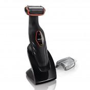 Afeitadora corporal BodyGroom Serie 3000 Philips con cargador y peine guía