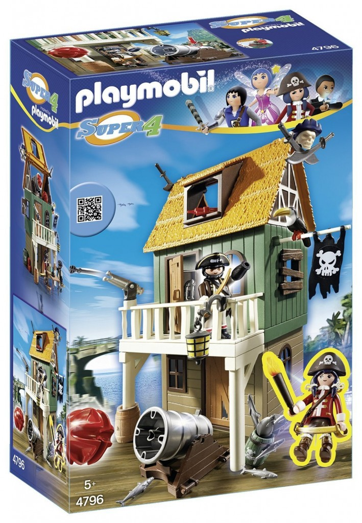 Fuerte Pirata camuflado con Ruby Playmobil(4796) Super 4