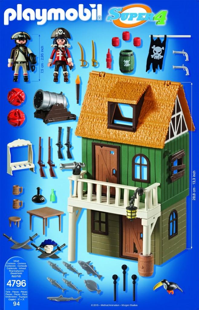 Playmobil(4796) Super 4 contenido de la caja, 94 piezas