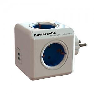 PowerCube Allocacoc con 4 tomas y 2 puertos USB