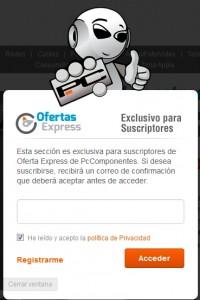 Registrarse y acceder a las Ofertas Express