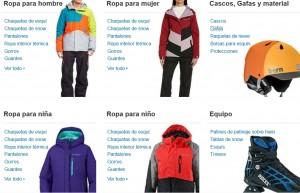 Seccion deportes invierno Amazon