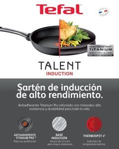Tefal Talent aptas para todo tipo de cocinas, con indicador de temperatura óptima