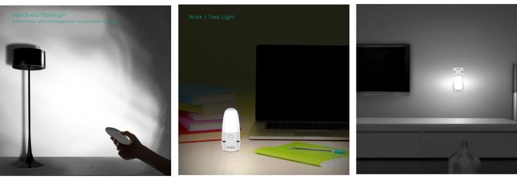 Varios usos: linterna, lámpara sobremesa, luz ambiental nocturna