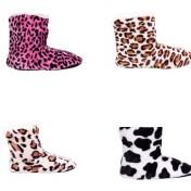 Zapatillas tipo bota para casa de mujer