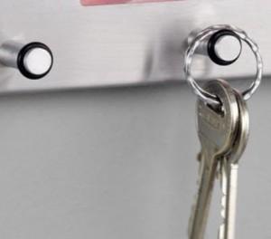 Zeller 13885 ganchos con anillos de goma para evitar que las llaves se resbalen