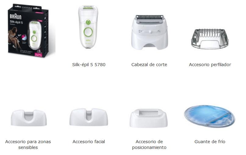 Braun Silk-épil 5 5780 accesorios incluidos