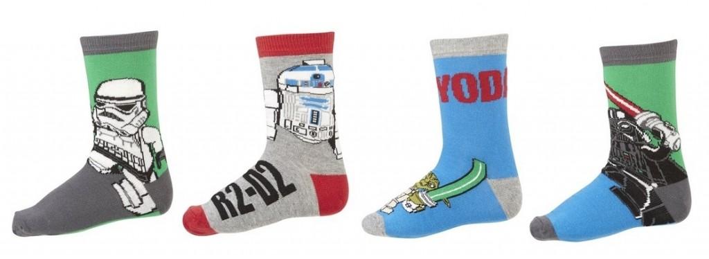 Lote de cuatro pares de calcetines para niños LEGO STAR WARS