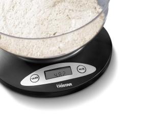Báscula de cocina con bol Tristar KW-2430 pantalla LCD y función tara
