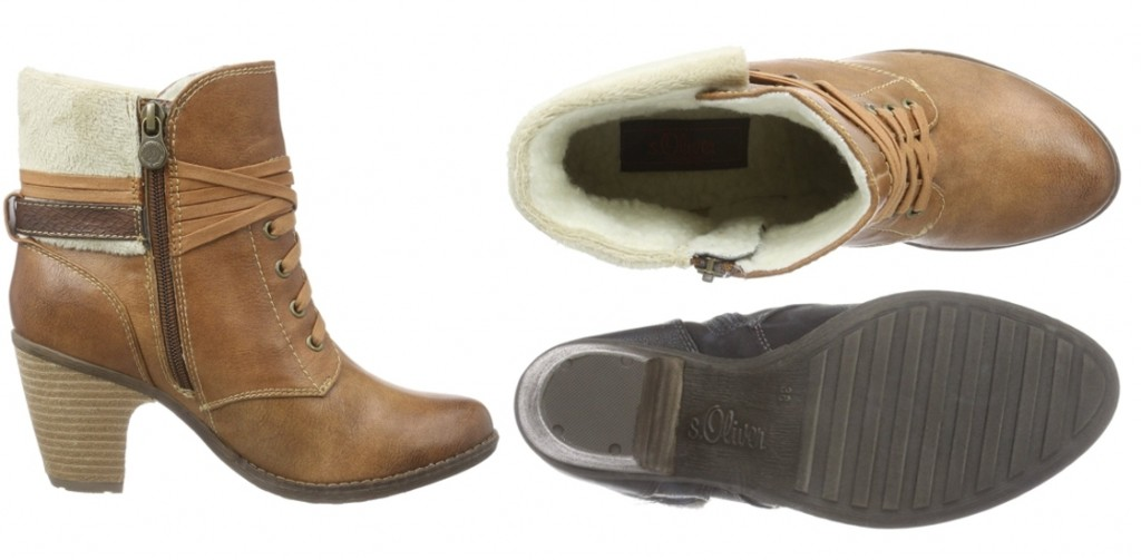 Botas de mujer s.Oliver 26105 en color negro y marrón