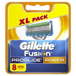 Pack de 8 cuchillas de recambio Gillette Fusion ProGlide Power