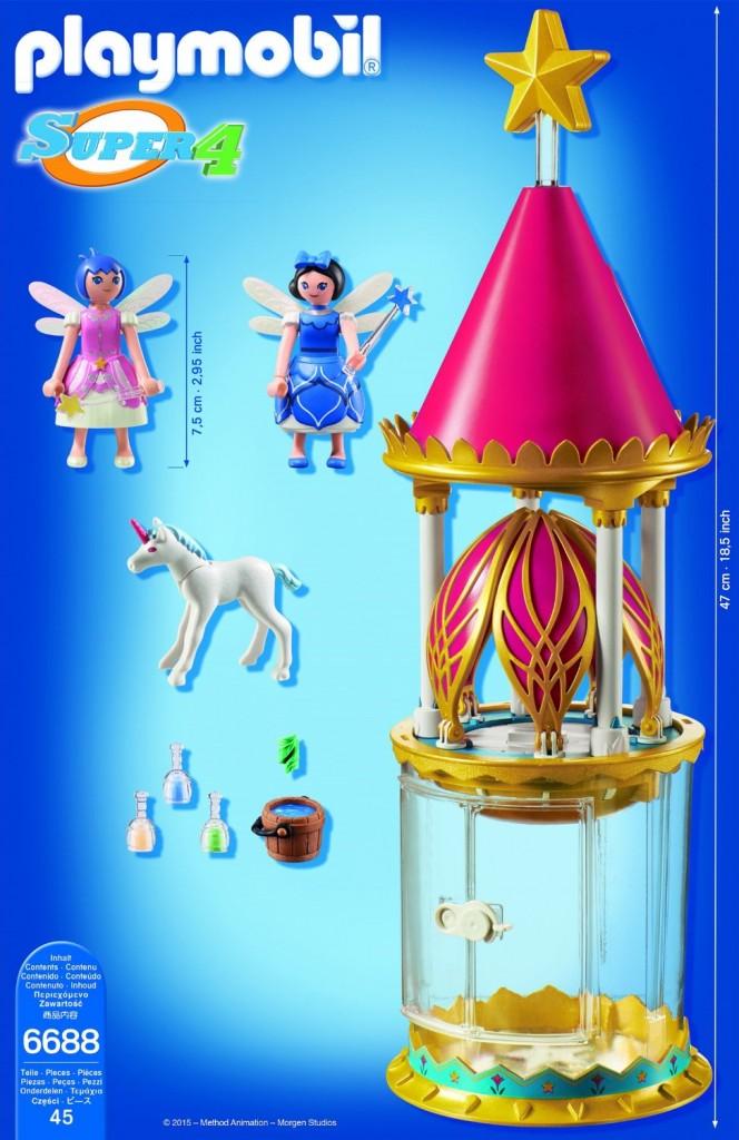 Torre flor mágica con caja musical Playmobil(6688) Super 4 contenido caja