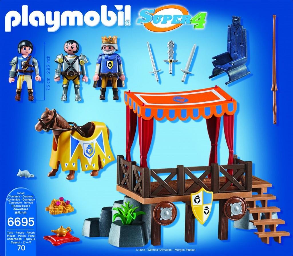 Tribuno Real con Alex Playmobil (6695) Super 4 contenido de la caja