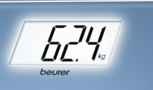 Báscula de baño Beurer GS-208 iluminación en blanco