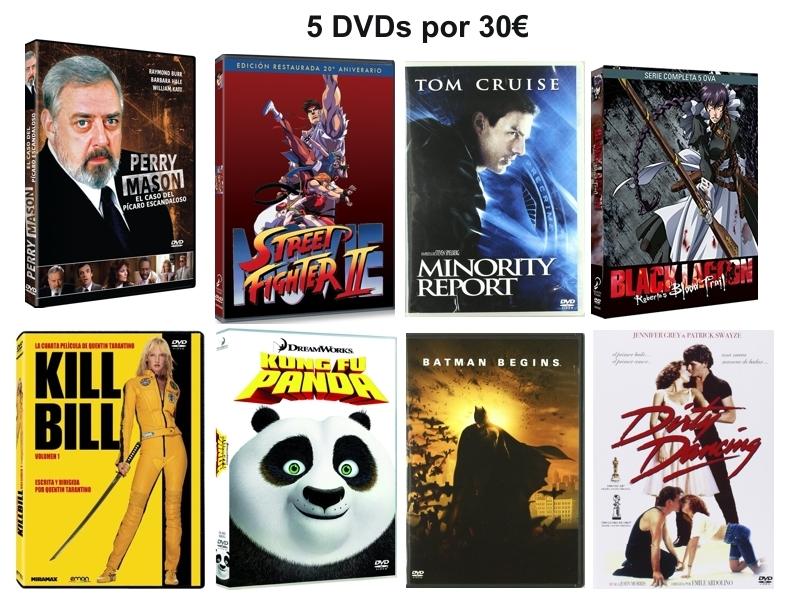 5 DVDs por 30€ en Amazon