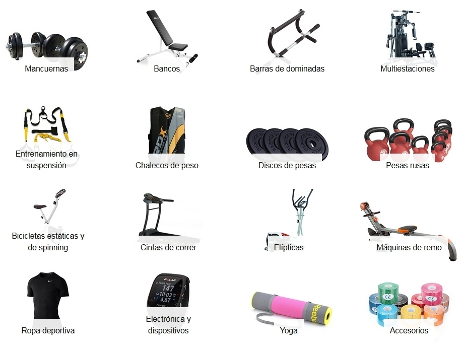 Sección fitness y ejercicio de Amazon