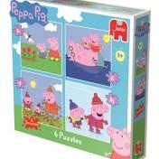 Set de 4 puzzles progresivos Jumbo Games Peppa Pig