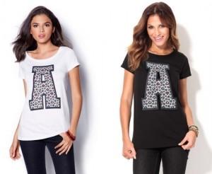 Camiseta de manga corta letra A