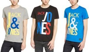 Camiseta para hombre Jack & Jones letras grandes