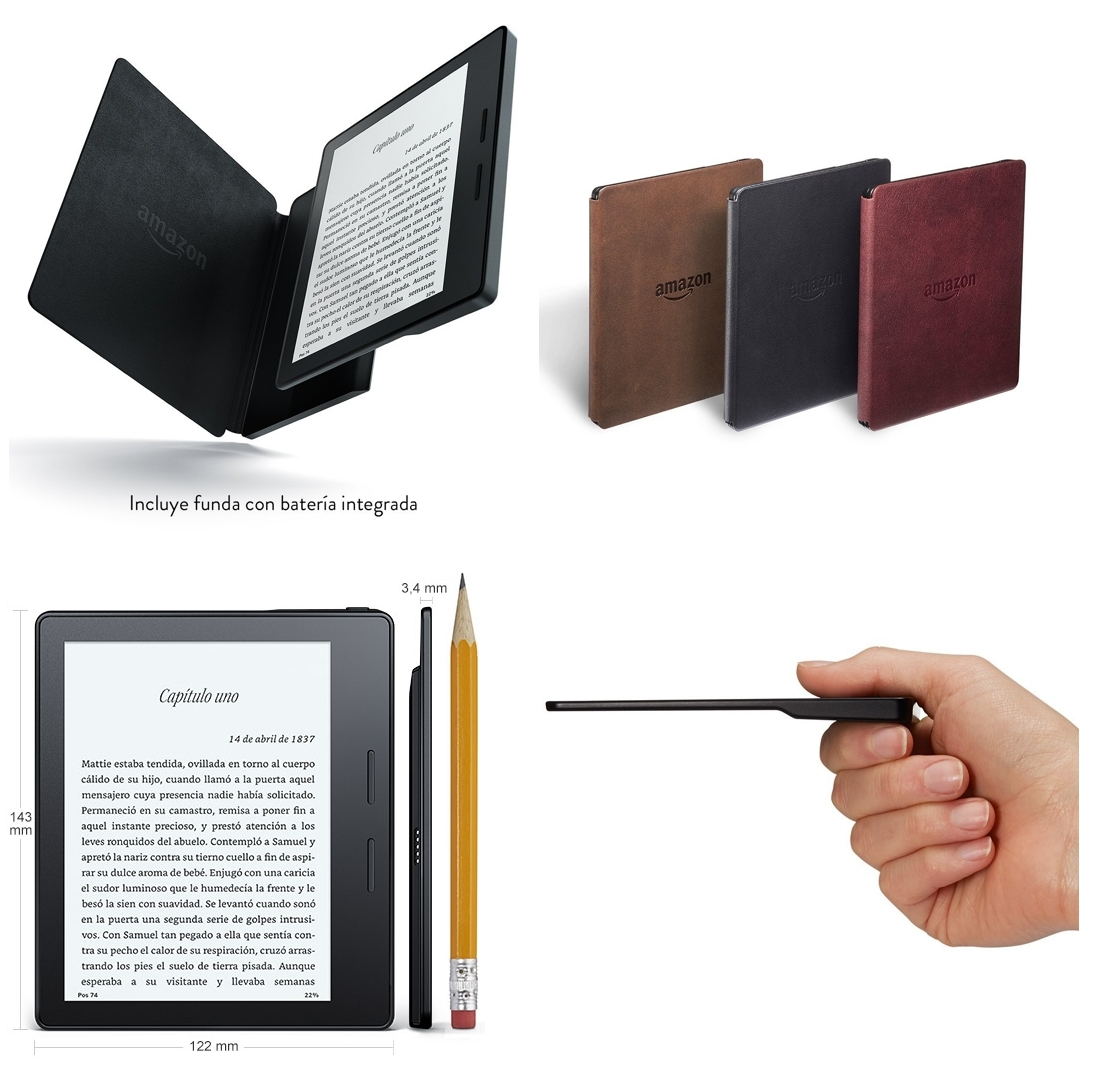 Kindle Oasis con funda con batería integrada