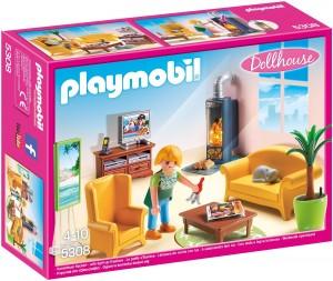 Sala de estar con fuego Playmobil 53080