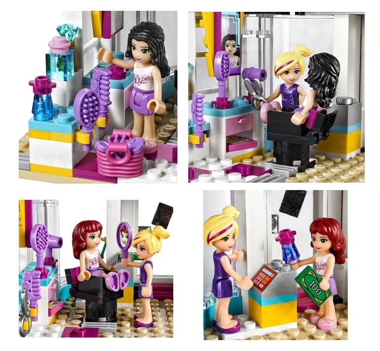peluquería de Heartlake Lego Friends 41093