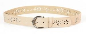 Cinturón en color beige