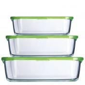 Conjunto de 3 recipientes con tapa Luminarc Keepn Box