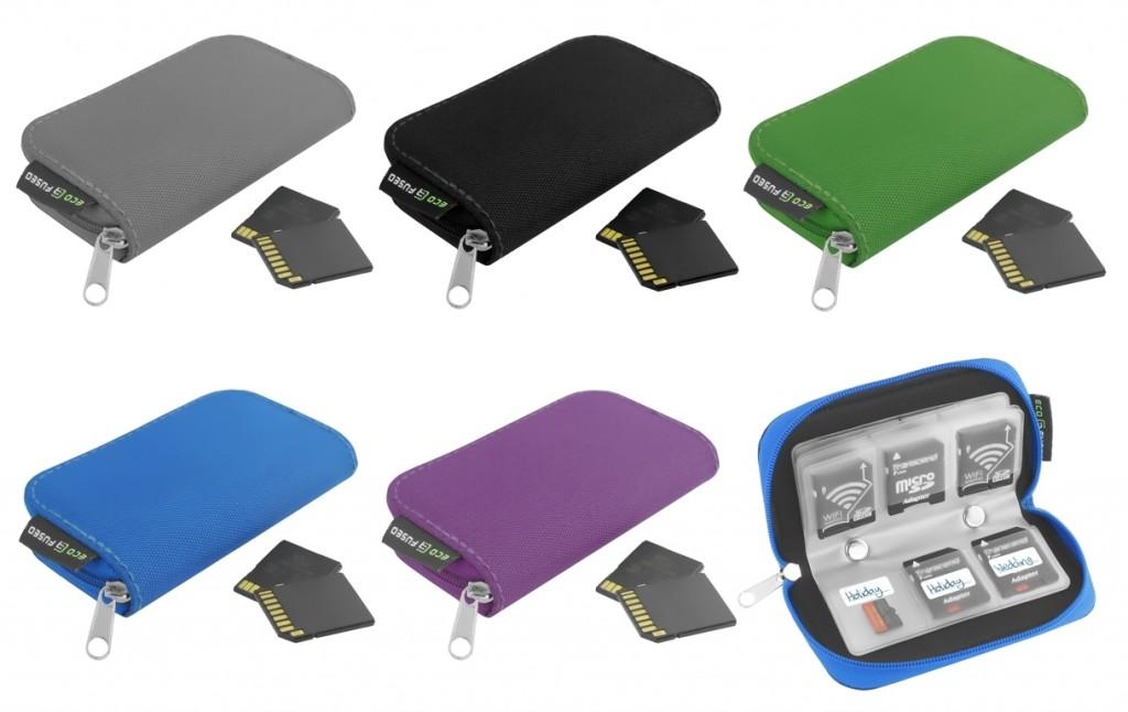 Estuche para tarjetas de memoria ECO-FUSED varios colores