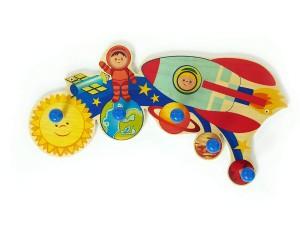 Perchero de pared infantil Hess con diseño Mundo