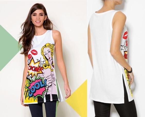 Camiseta diseño inspiración cómic