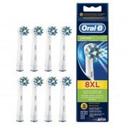 Pack de 8 cabezales Braun Oral-B CrossAction